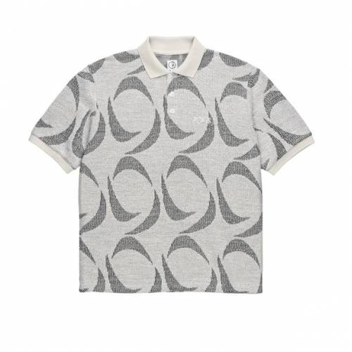 Polar Patterned Polo Shirt - Ivory / Black