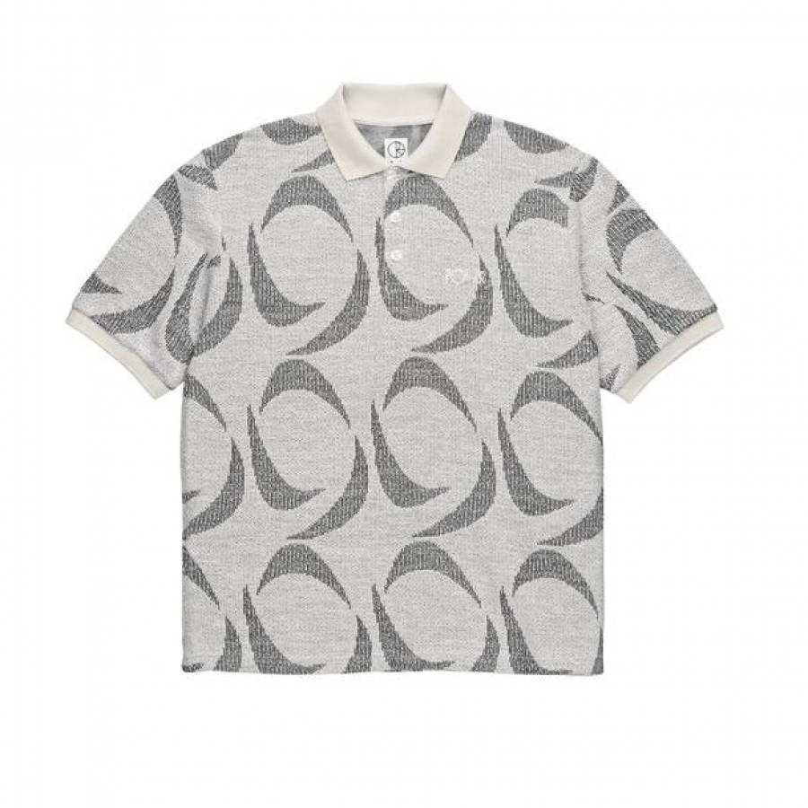 Polar Patterned Polo Shirt - Ivory / Black
