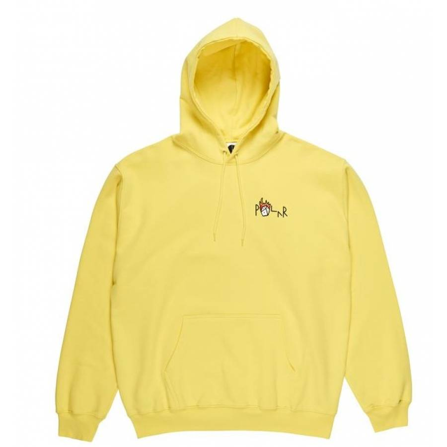 Polar Castle Fill Logo Hoodie - Yellow
