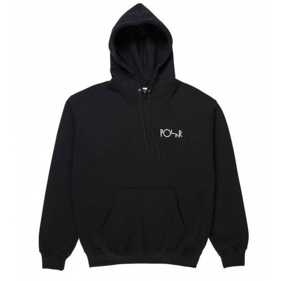 Polar Garden Fill Logo Hoodie Sweatshirt - Black