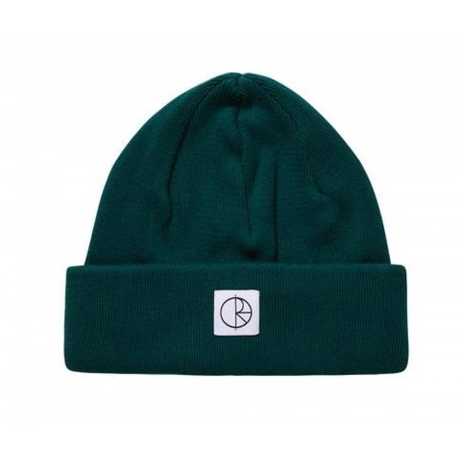 Polar Double Fold Cotton Beanie - Dark Green
