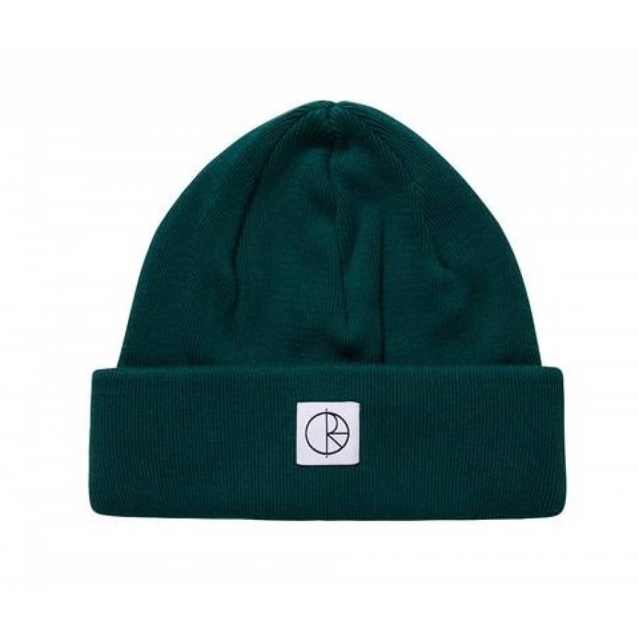 Polar Double Fold Cotton Beanie - Dark Green