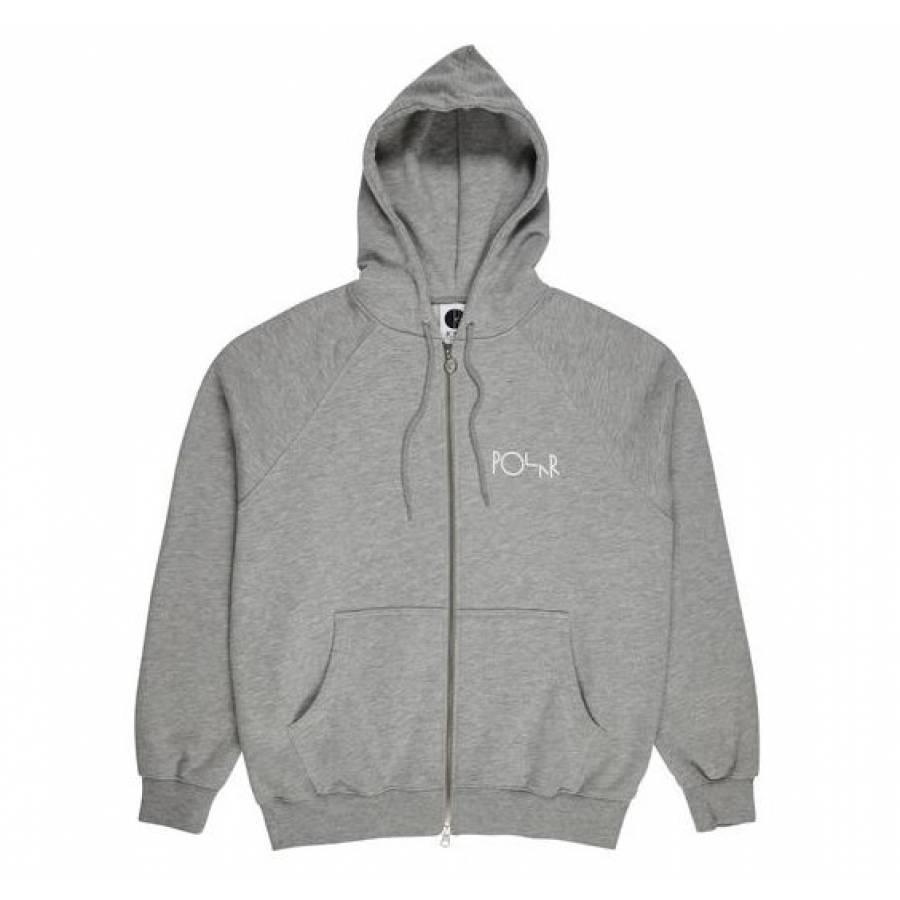 Polar Stroke Logo Zip Hoodie Jacket - Heather Grey...