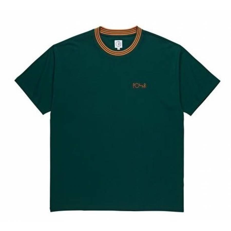 Polar Striped Rib Tee - Dark Green