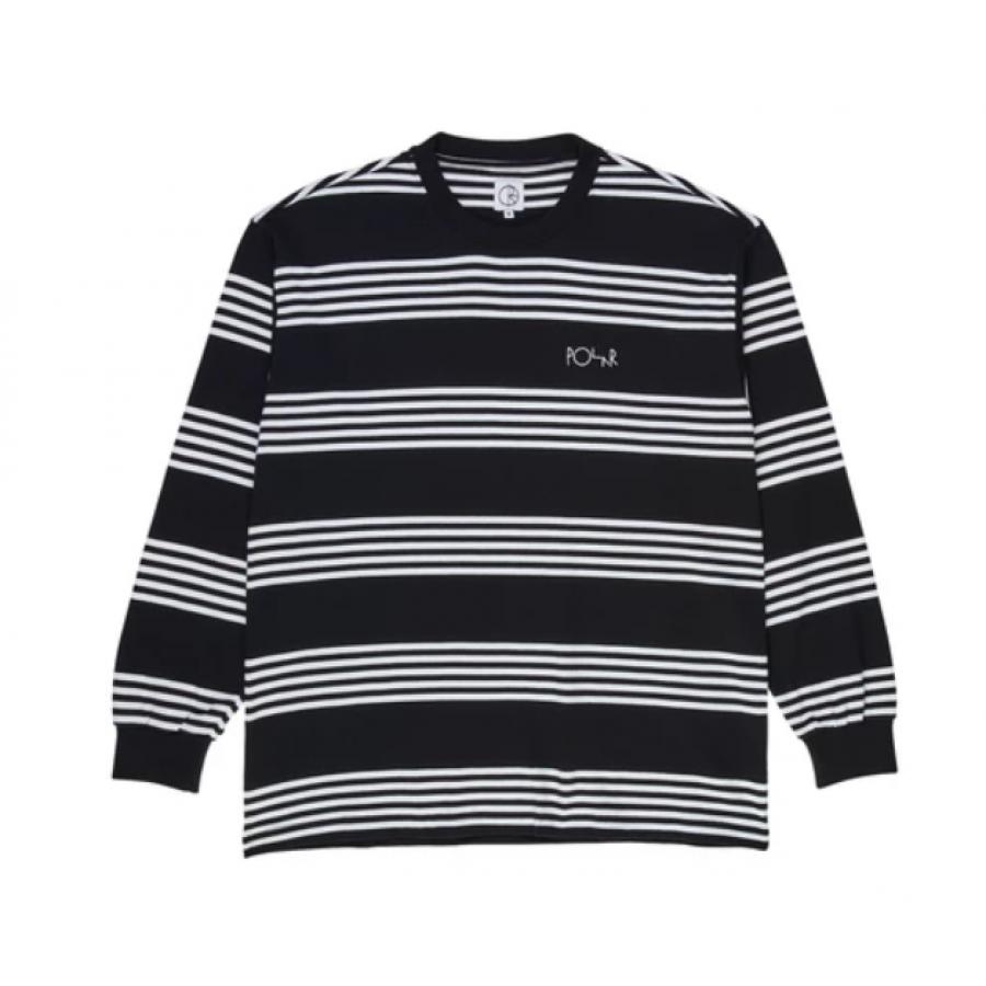 Polar Striped Longsleeve Tee - Black