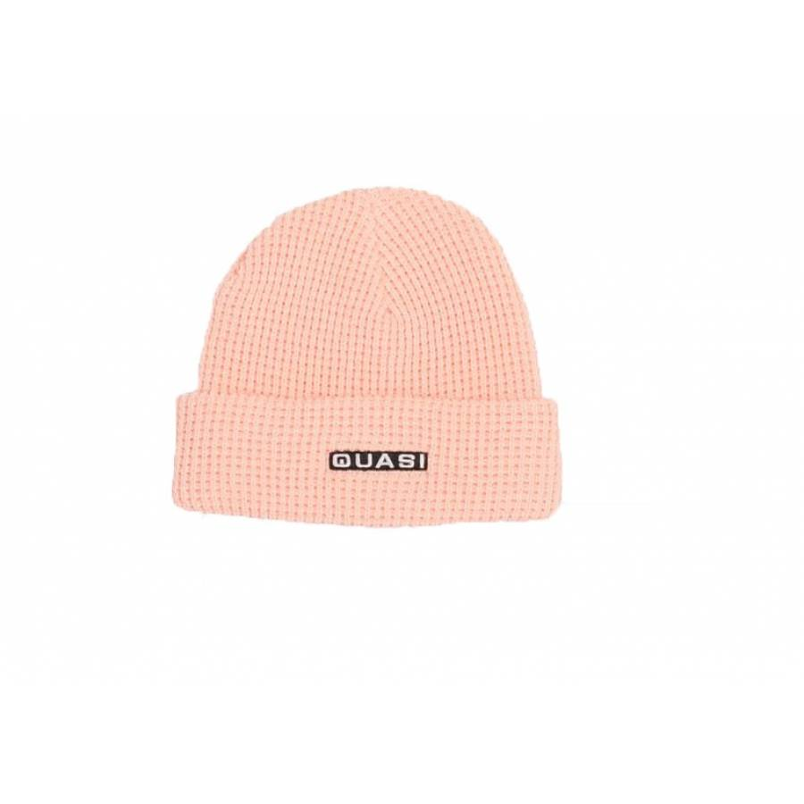 Quasi Skateboards Waffle Beanie - Pale Pink