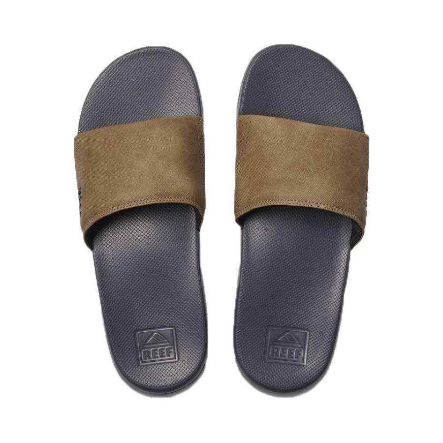 Reef One Slide - Grey/Tan