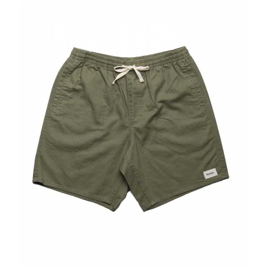 Rhythm Linen Jam Shorts - Olive
