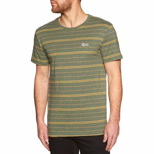 Rhythm Vintage Stripe T-Shirt - Olive