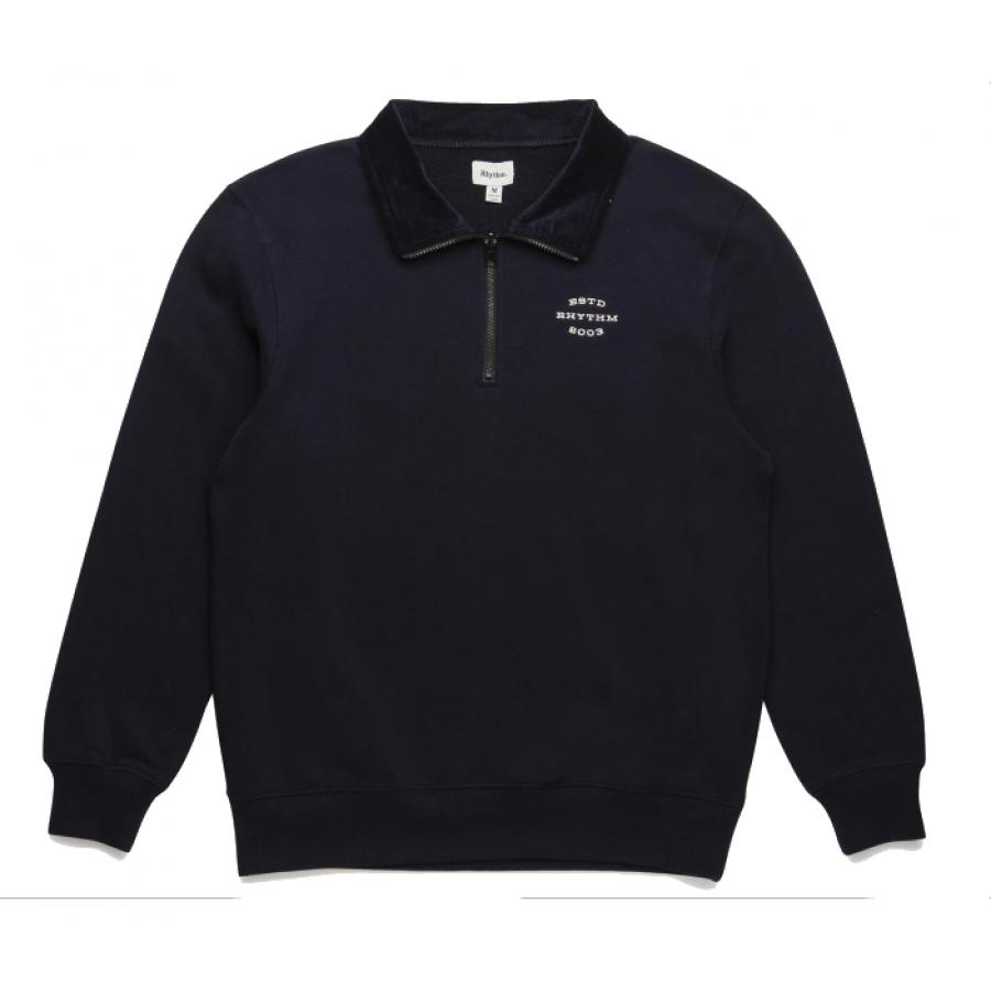 Rhythm James Quarter Zip Pullover - Navy