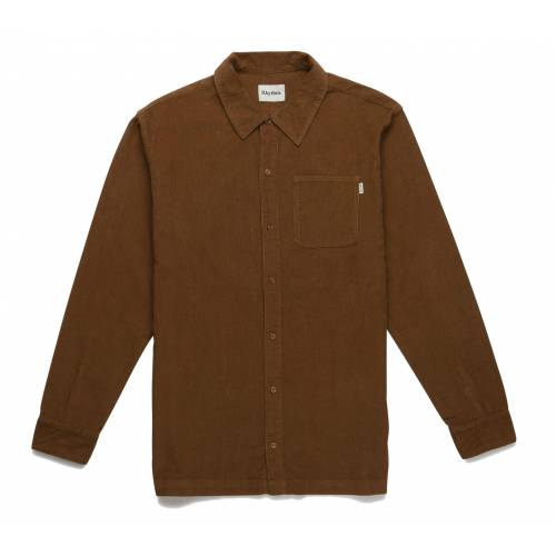 Rhythm Corduroy LS Shirt - Almond