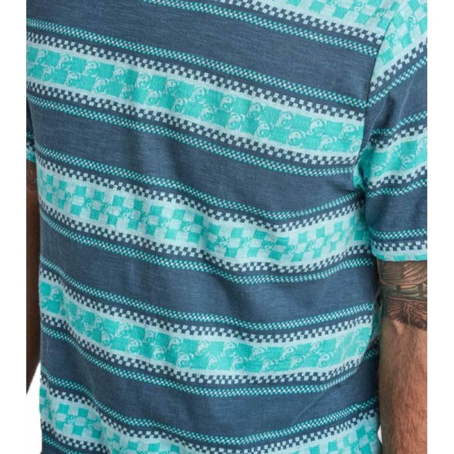 Roark Yin Yang Knit Top Tee - Indigo
