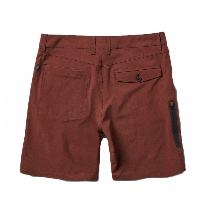 Roark Explorer Hybrid Stretch Shorts - Burgundy