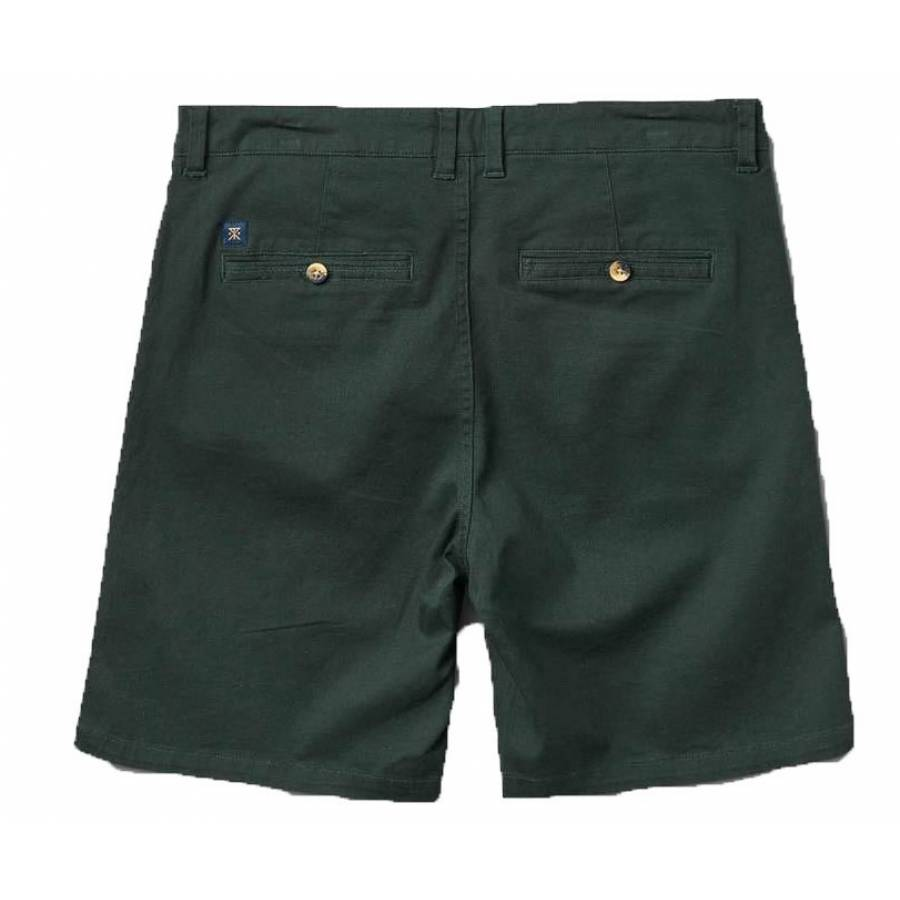 Roark Porter Midweight Chino Shorts - Forest