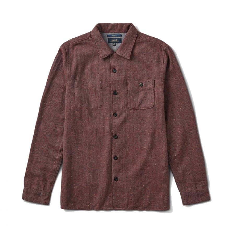 Roark Wild Camp Shirt - Burgundy