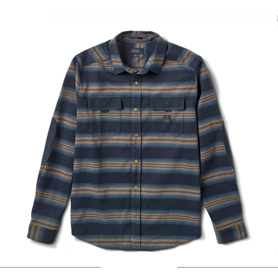Roark Diablo Long Sleeve Flannel Shirt - Blue