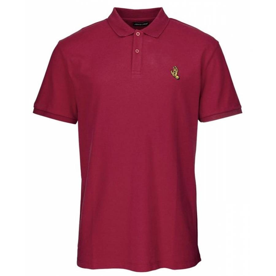 Santa Cruz Screaming Mono Hand Polo - Burgundy