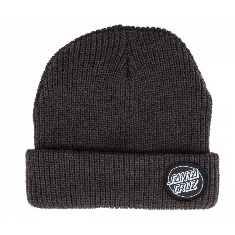 Santa Cruz Outline Dot Beanie - Black