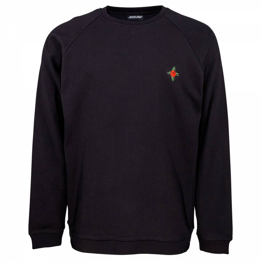 Santa Cruz Dressen Rose Kit Emb Crew Sweatshirt - ...