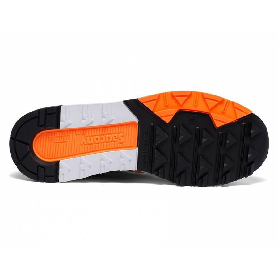 Saucony Azura Shoes - White/Orange/Black