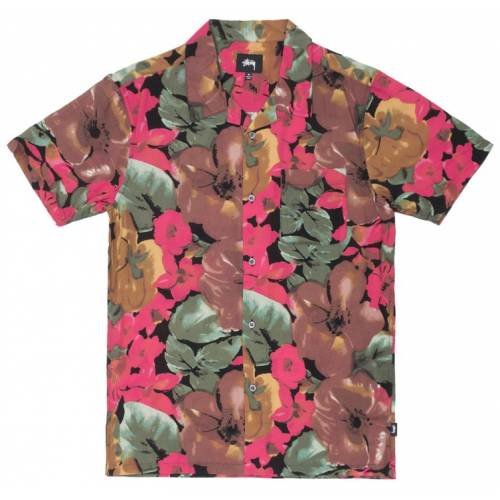 Stussy Watercolour Flower Shirt - Black