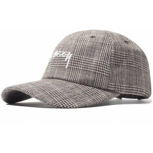 Stussy Glen Plaid Low Pro Cap - White