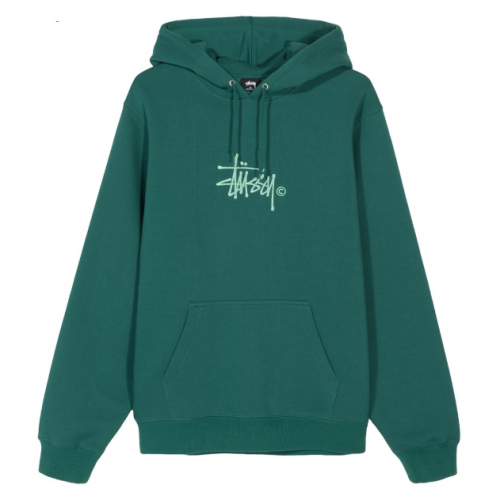 Stussy Basic Copyright Applique Hood - Green