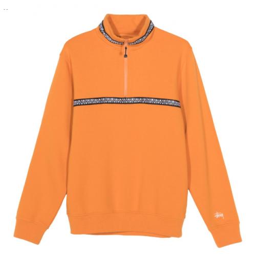 Stussy Woven Tape Mock Neck Woven - Orange