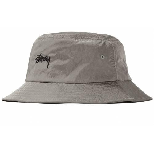 Stussy Nylon Taslan Bucket Hat - Silver