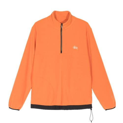 Stussy Polar Fleece Mock - Orange