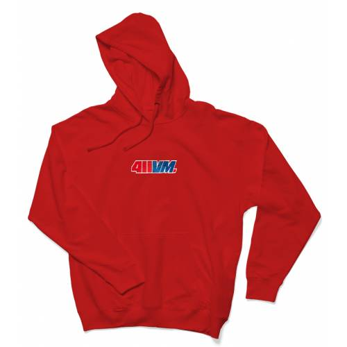 411VM Embroidered Hoodie - Red