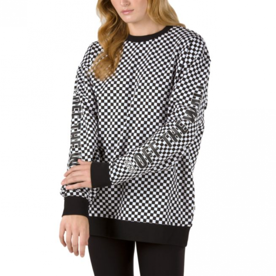 Vans Central  Crew Pullover - Black Checkerboard