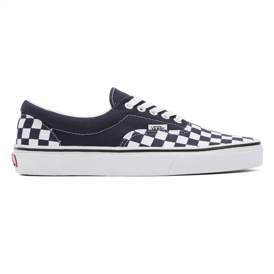 Vans Era Checkerboard Shoes - Navy / White