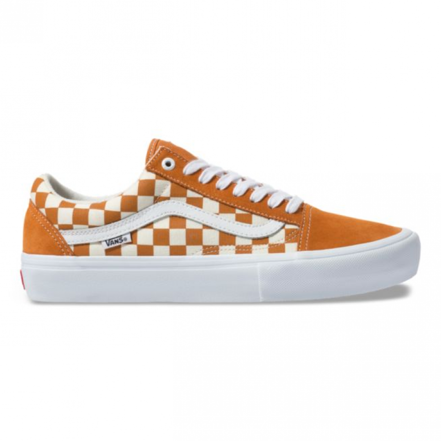 Vans Checkerboard Old Skool Pro Shoes - Golden Oak