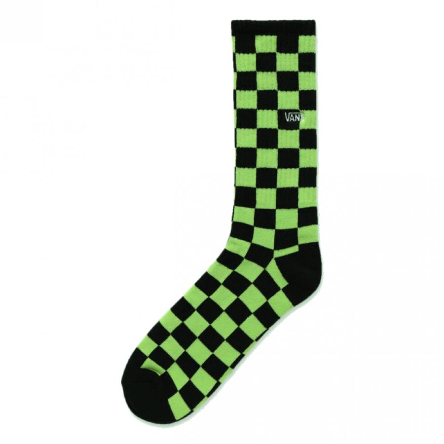 Vans Checkerboard Socks - Sharp Green / Black