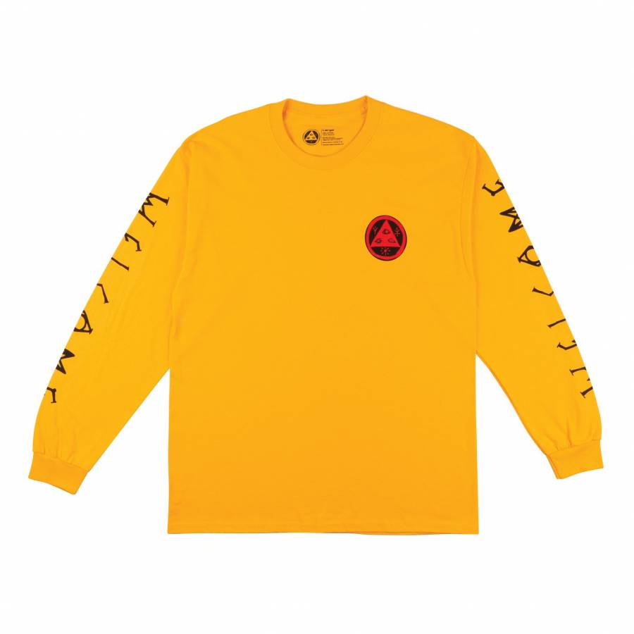 Welcome Lessrach Long Sleeve Tee - Gold