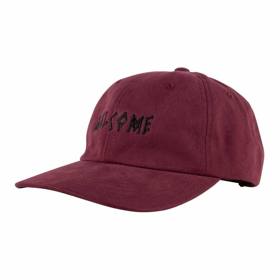 Welcome Scrawl Peached Twill Dad Hat - Marron / Bl...