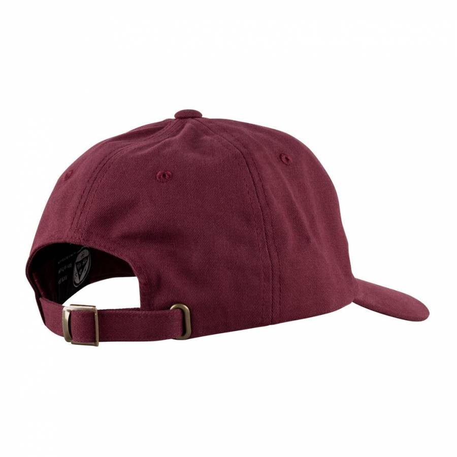 Welcome Scrawl Peached Twill Dad Hat - Marron / Black