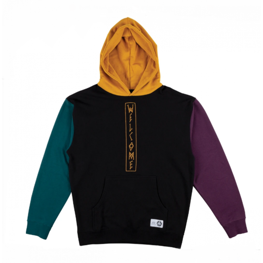 Welcome Quadrant Pullover Hoodie - Black / Gold