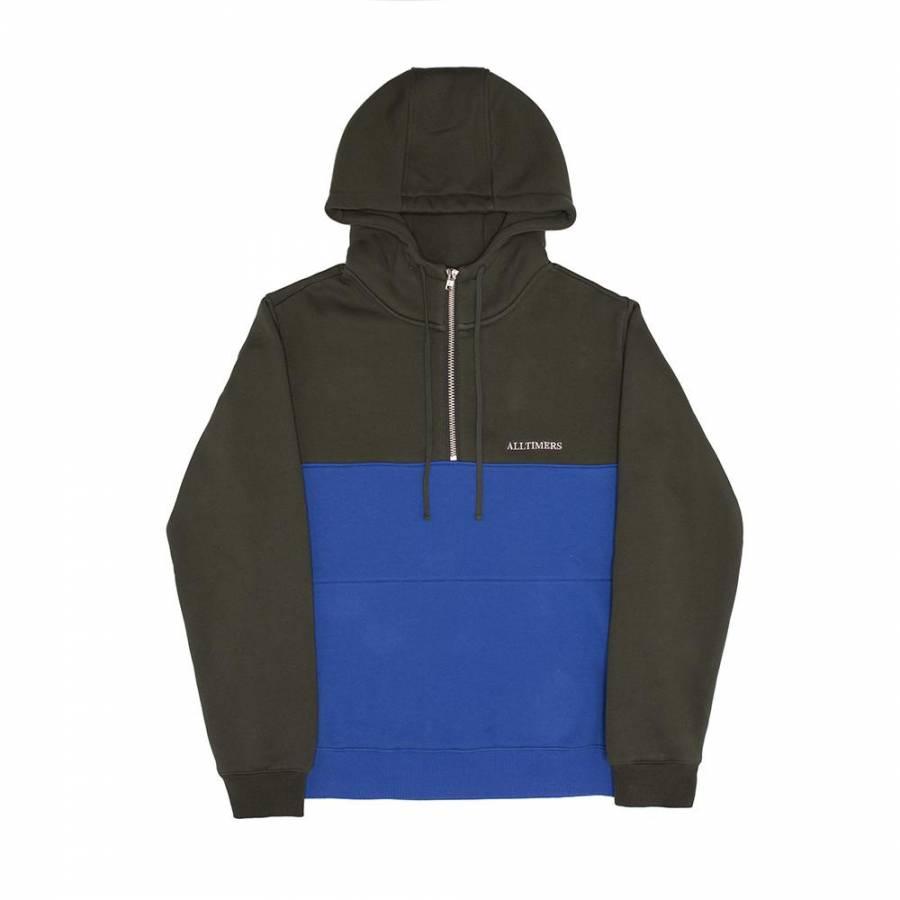 Alltimers Struck Half Zip Hoodie Sweatshirt - Gree...