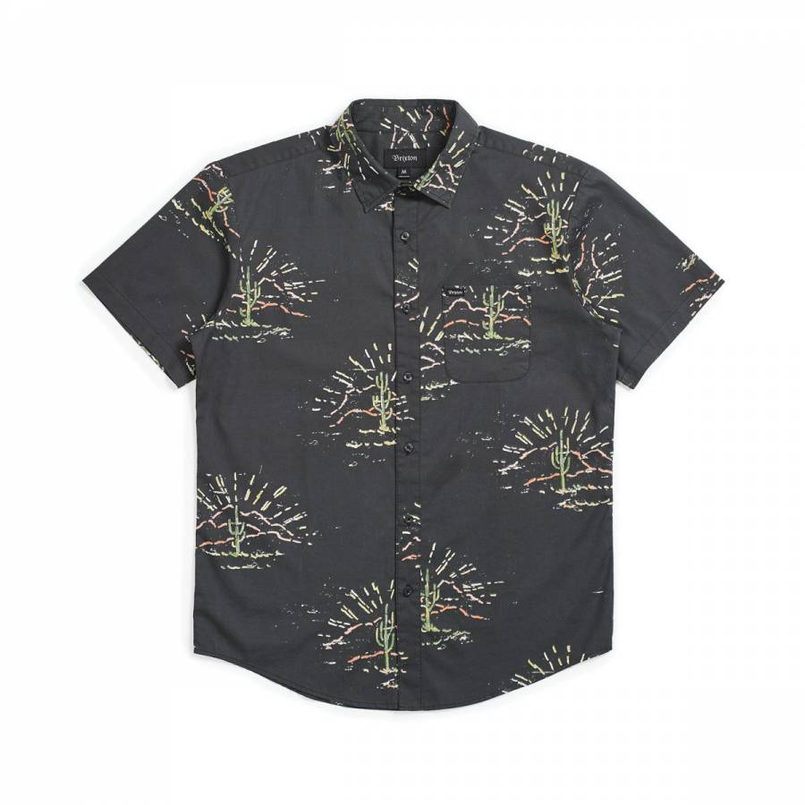 Brixton Charter Print S/S Woven - Washed Black