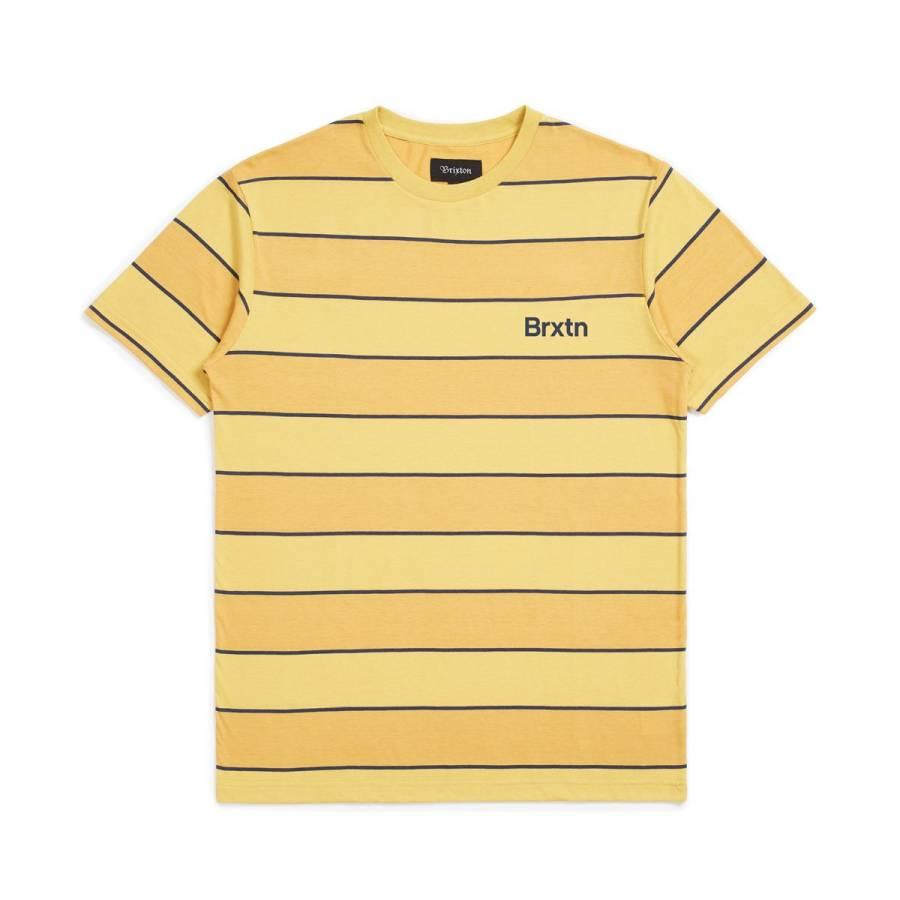 Brixton Hilt Print S/S Knit - Sunset Yellow / Wash...