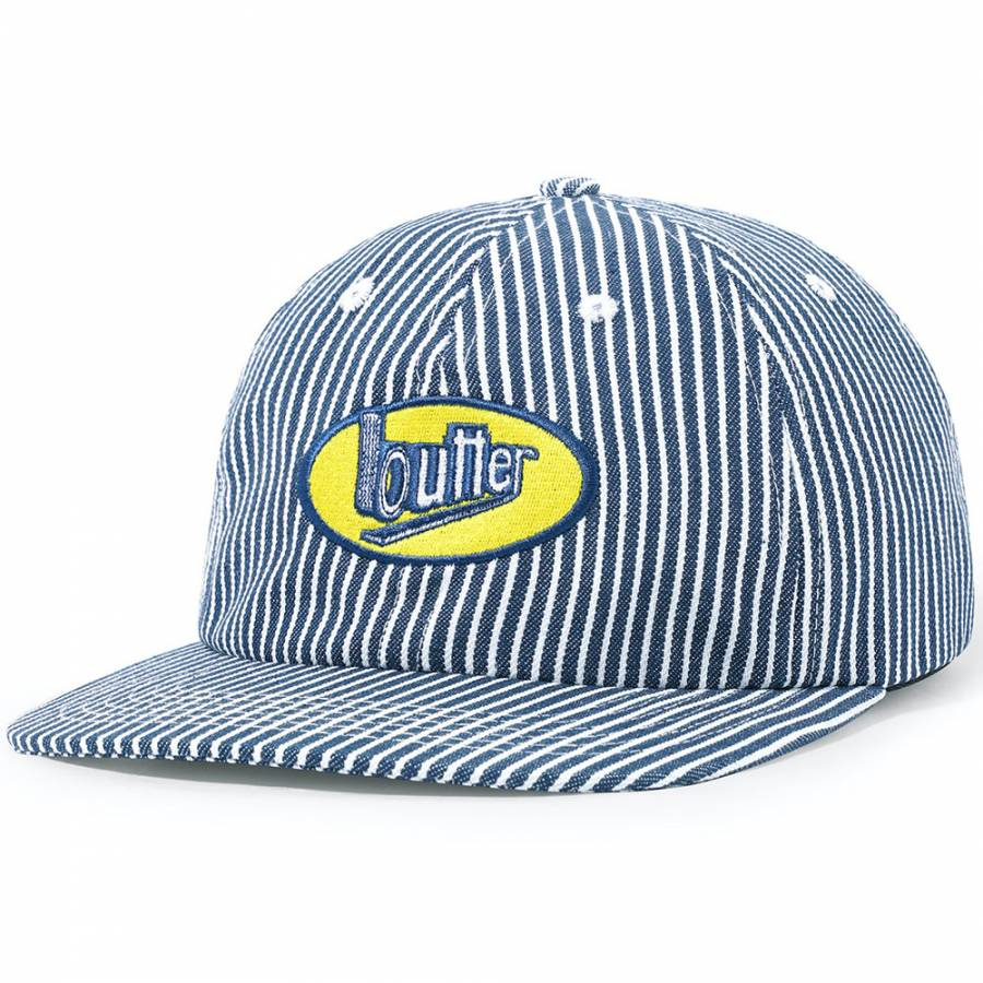 Butter Work 6 Panel Cap - Hickory Stripe
