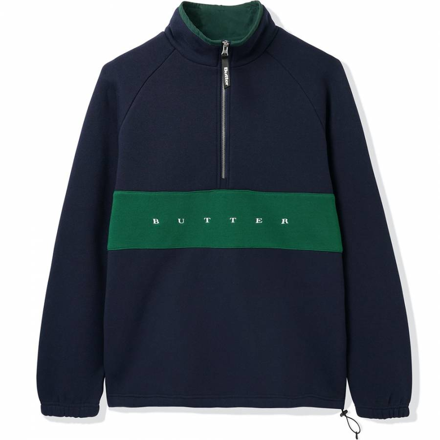 Butter Hampshire 1/4 Zip Pullover - Navy / Forest ...
