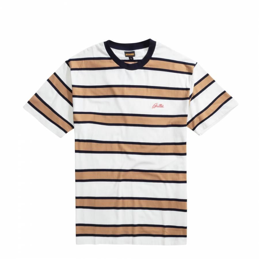 Butter Pine Stripe T-shirt - Tan / Navy