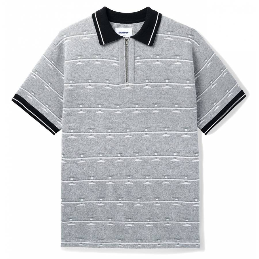 Butter Razor Zip Polo - Grey