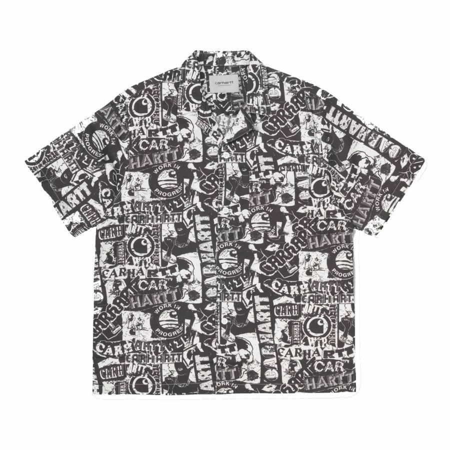 Carhartt S/S Collage Shirt - Black / White