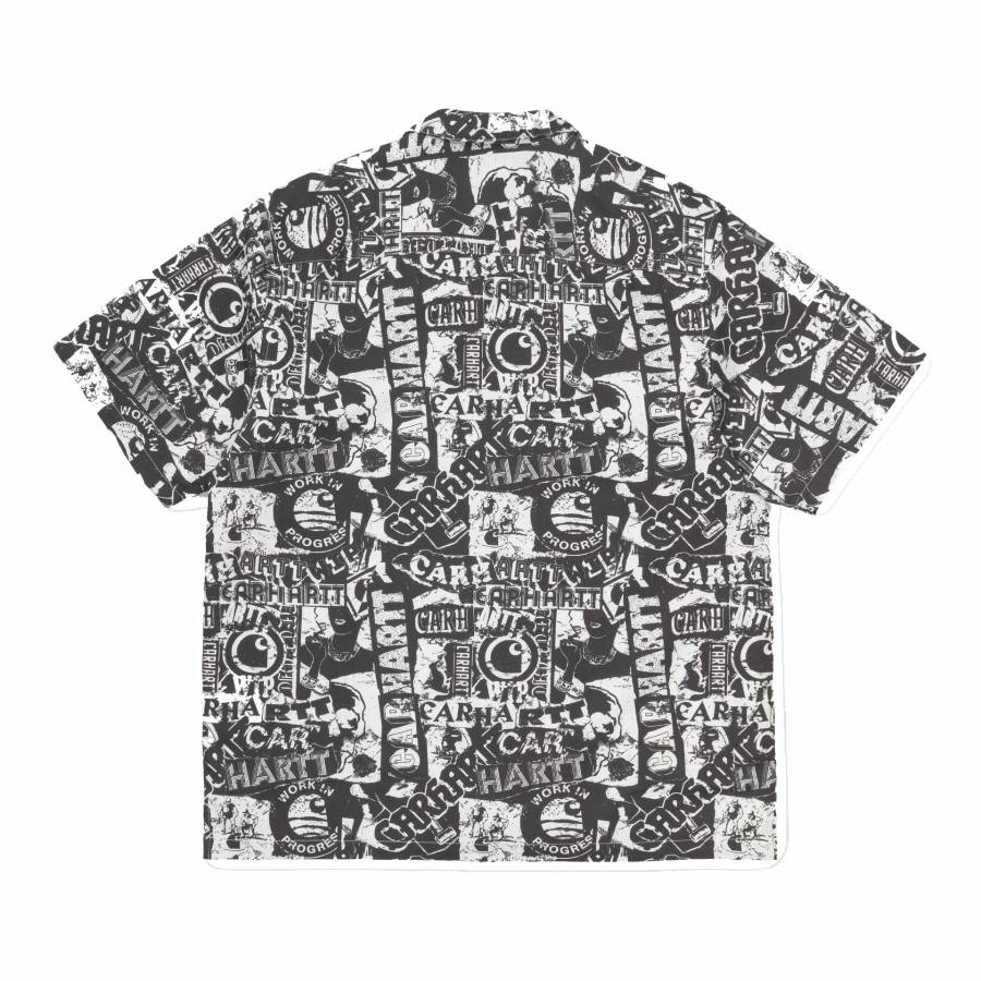 Carhartt S/S Collage Shirt - Black / White