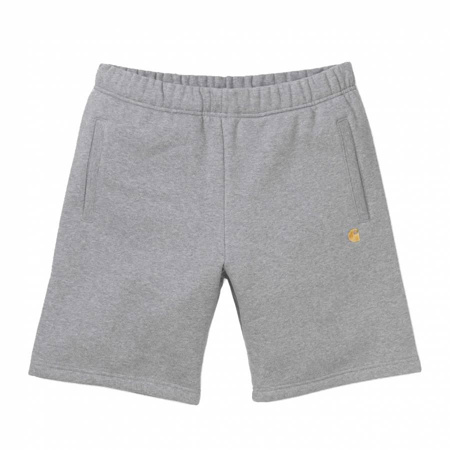 Carhartt Chase Sweat Short - Grey Heather / Gold