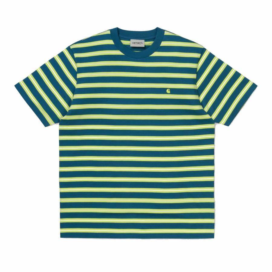 Carhartt S/S Oakland T-Shirt - Mondy Blue / Lime